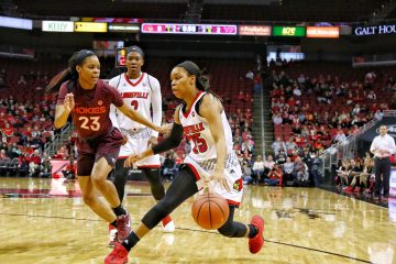 Asia Durr Louisville vs. Virginia Tech 1-7-2018 Photo by William Caudill, TheCrunchZone.com