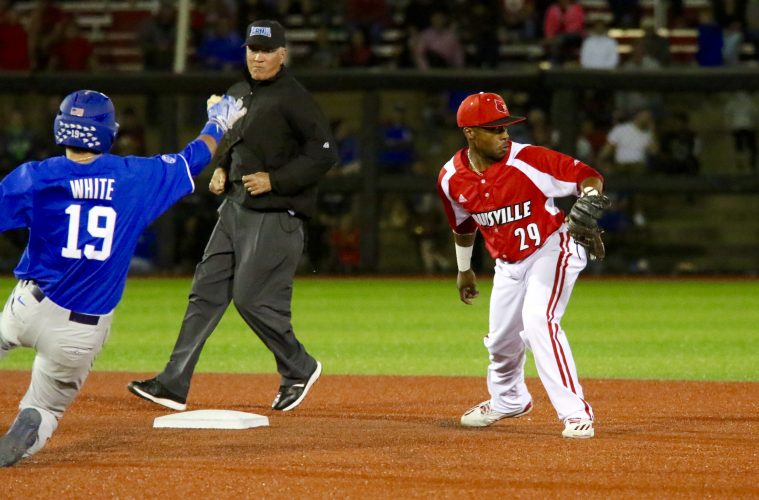 Devin Hairston Louisville Baseball vs. Kentucky 4-4-2017 Photo by William Caudill TheCrunchZone.com