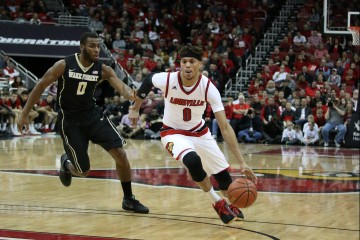 Damion Lee vs. Wake Forest 1-3-2016 Photo by William Caudill