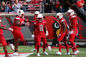 Trumaine Washington Pick 6 Louisville vs. Syracuse 11-7-2015 Photo by William Caudill