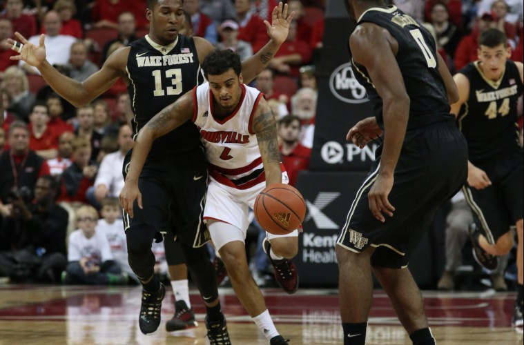 Quentin Snider vs. Wake Forest 1-3-2016 Photo by William Caudill