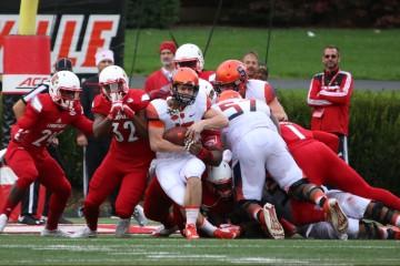 Zykiesis Cannon, Stacy Thomas Louisville vs. Syracuse 11-7-2015 Photo by William Caudill