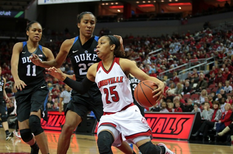 Asia Durr Louisville vs. Duke 1-10-2016 Photo by William Caudill