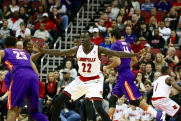 Deng Adel Louisville vs. Evansville 11-11-2016 Photo by William Caudill TheCrunchZone.com