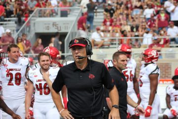 Scott Satterfield Louisville vs. Florida State 9-21-2019 Photo by Mark Blankenbaker TheCrunchZone.com