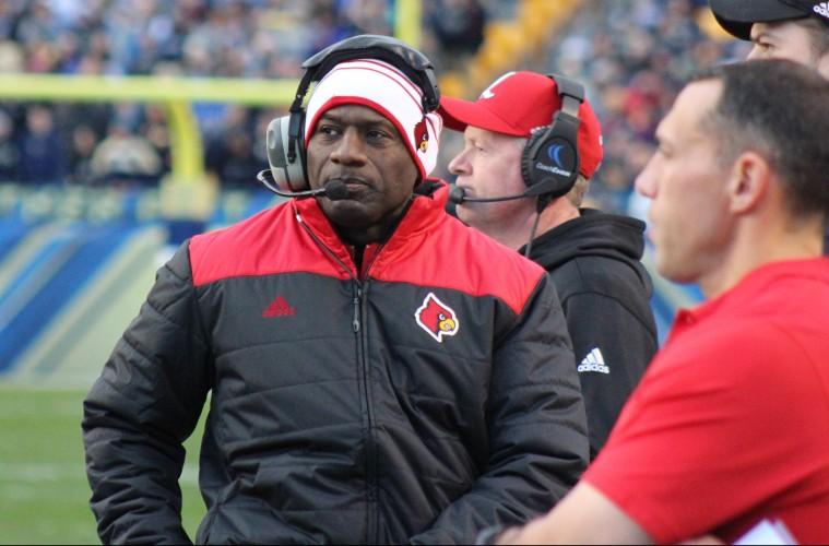 Terrell Buckley Louisville vs. Pittsburgh 11-21-2015 Photo by Mark Blankenbaker