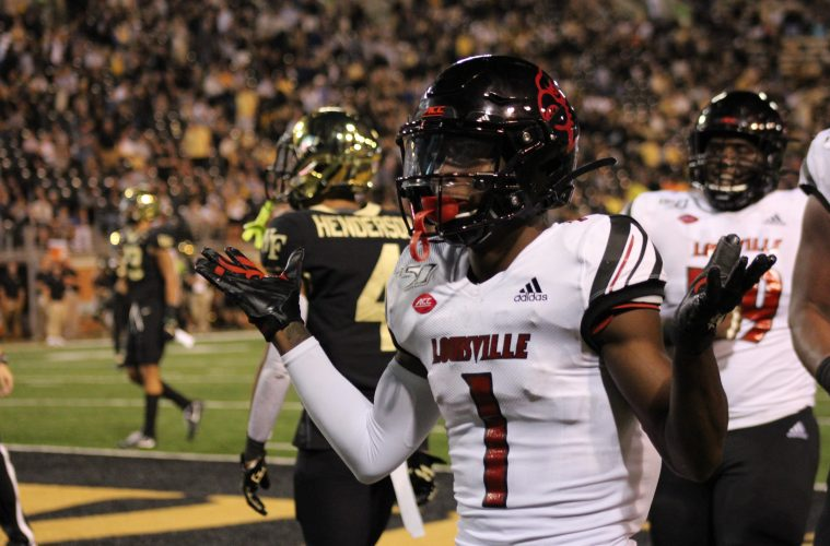 Tutu Atwell Louisville vs. Wake Forest 10-12-2019 TheCrunchZone.com, Photo by Drew Poynter