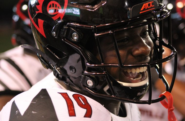 Hassan Hall Louisville vs. Wake Forest 10-12-2019 TheCrunchZone.com, Photo by Drew Poynter
