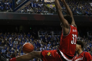 Chinanu Onuaku Louisville vs. Kentucky Basketball 12-26-2015 Photo by William Caudill