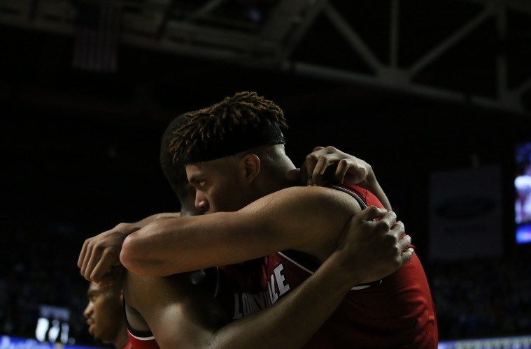 Donovan Mitchell, Damion Lee Louisville vs. Kentucky Basketball 12-26-2015 Photo by William Caudill