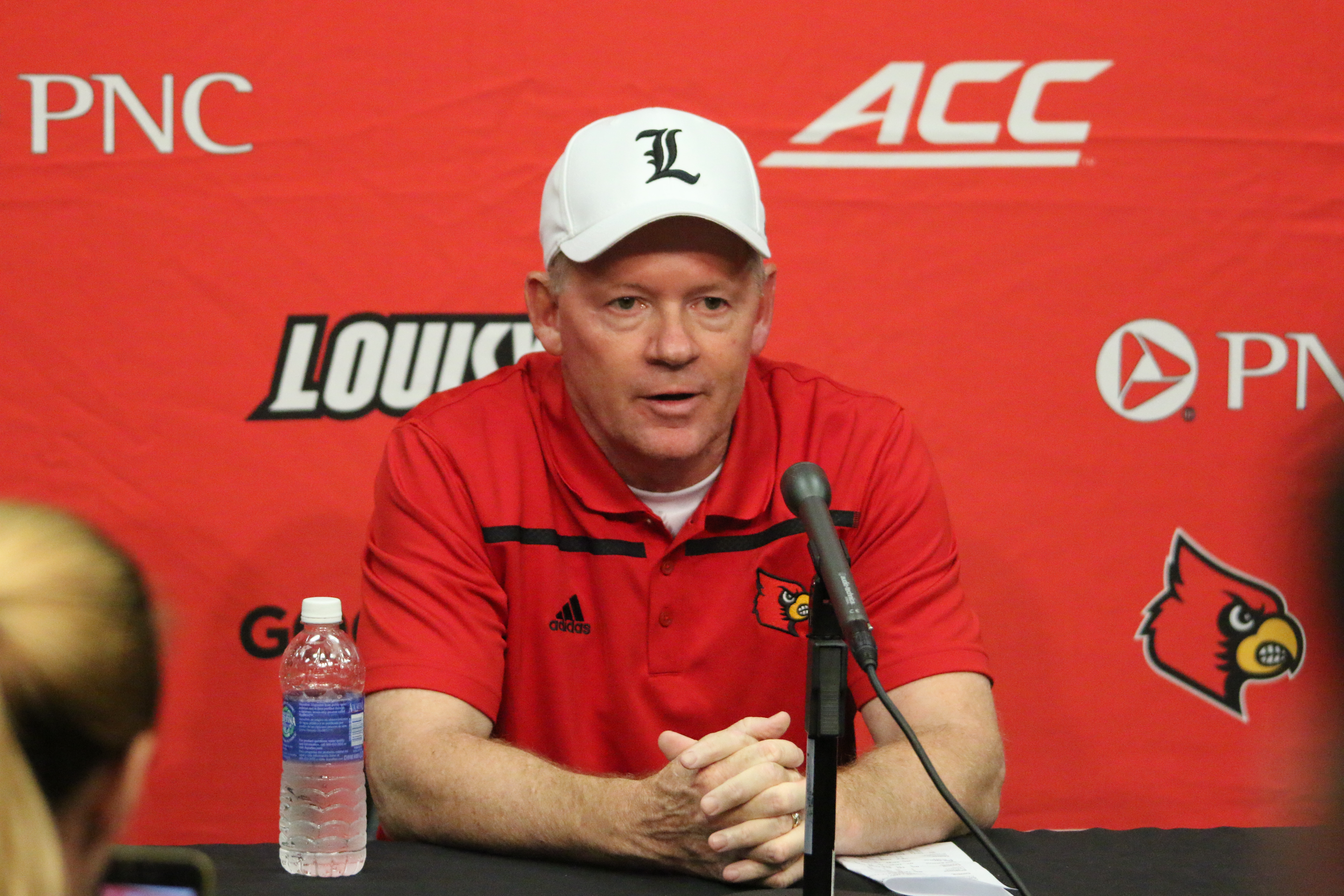 Bobby Petrino Louisville vs. Clemson 9-17-2015 Photo by William Caudill.