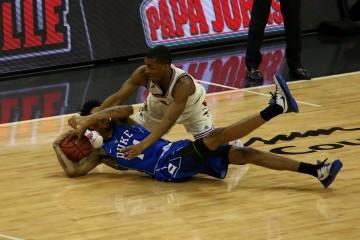 Donovan Mitchell Louisville vs. Duke 2-20-2016 Photo by William Caudill