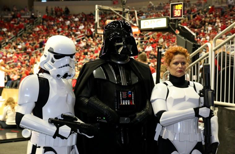 Star Wars Night Louisville Women's Basketball vs. Pitt 2-28-2016 Photo by William Caudill