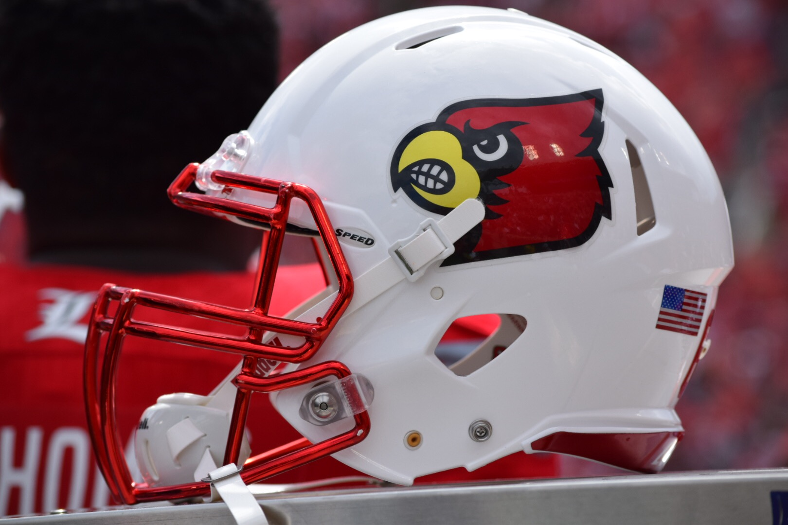 Helmet. Louisville vs. Houston Photo by Seth Bloom 9-12-2015.