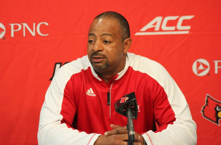 Lorenzo Ward Introductory Press Conference Louisville Football 1-30-2017 Photo By Mark Blankenbaker TheCrunchZone.com