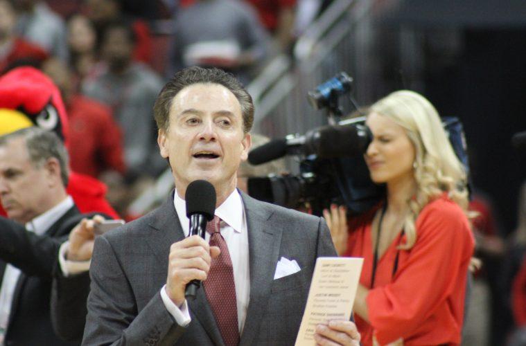Rick Pitino Louisville vs. Notre Dame 3-4-2017 Photo by Mark Blankenbaker TheCrunchZone.com