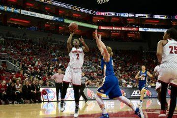Myisha Hines-Allen Louisville vs. South Dakota St 12-11-2016 Photo by William Caudill TheCrunchZone.com