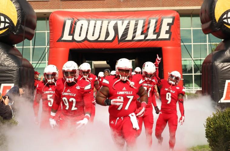 Khane Pass, Devonte Fields, DeAngelo Brown, Traveon Samuel Entrance Louisville vs. Syracuse 11-7-2015 Photo by William Caudill