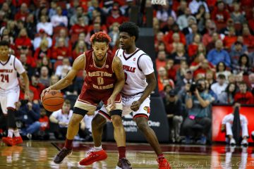 Darius Perry Louisville vs. Boston College 1-21-2018 Photo by William Caudill, TheCrunchZone.com