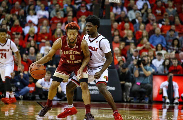 Darius Perry Louisville vs. Boston College 1-21-2018 Photo by William Caudill, TheCrunchZone.com