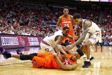 Ray Spalding, VJ King Louisville vs. Syracuse 2-5-2018 Photo by William Caudill, TheCrunchZone.com