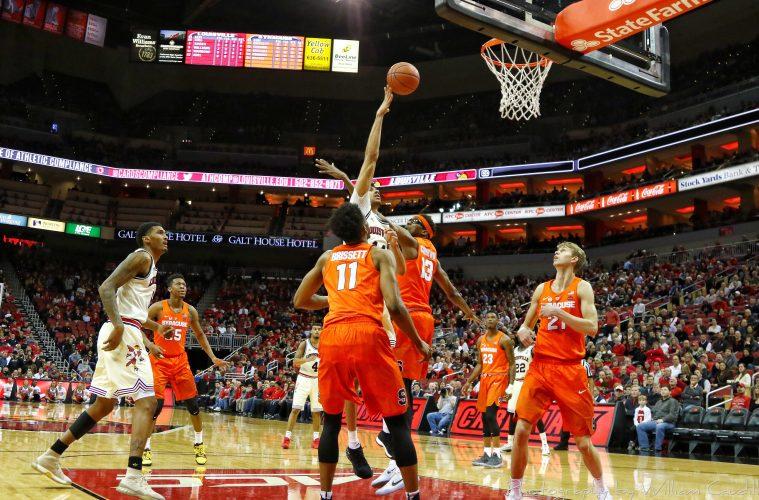 Anas Mahmoud Louisville vs. Syracuse 2-5-2018 Photo by William Caudill, TheCrunchZone.com