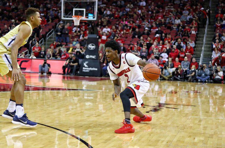Darius Perry Louisville vs. Georgia Tech 2-8-2018 Photo by William Caudill, TheCrunchZone.com
