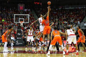 Ray Spalding, Tipoff Louisville vs. Virginia Tech 1-13-2018 Photo by William Caudill, TheCrunchZone.com