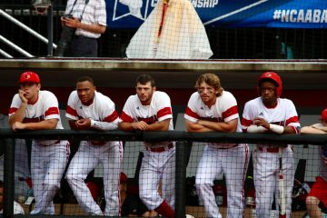 Will Smith, Corey Ray, Logan Taylor, Danny Rosenbaum, Devin Hairston Louisville vs. Ohio State 6-4-2016 Photo by William Caudill