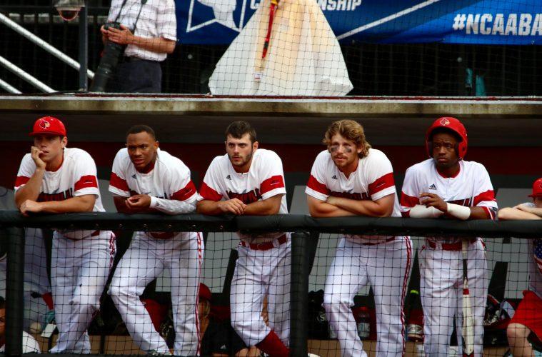 Will Smith, Corey Ray, Logan Taylor, Danny Rosenbaum, Devin Hairston Louisville vs. Ohio State 6-4-2016 Photo by William Caudill