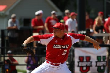 Drew Harrington Louisville vs. Wright State 6-5-2016 Photo by William Caudill