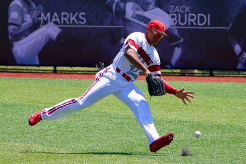 Corey Ray Louisville vs. UC Santa Barbara NCAA Regional Game 1 Photo by William Caudill 6-11-2016