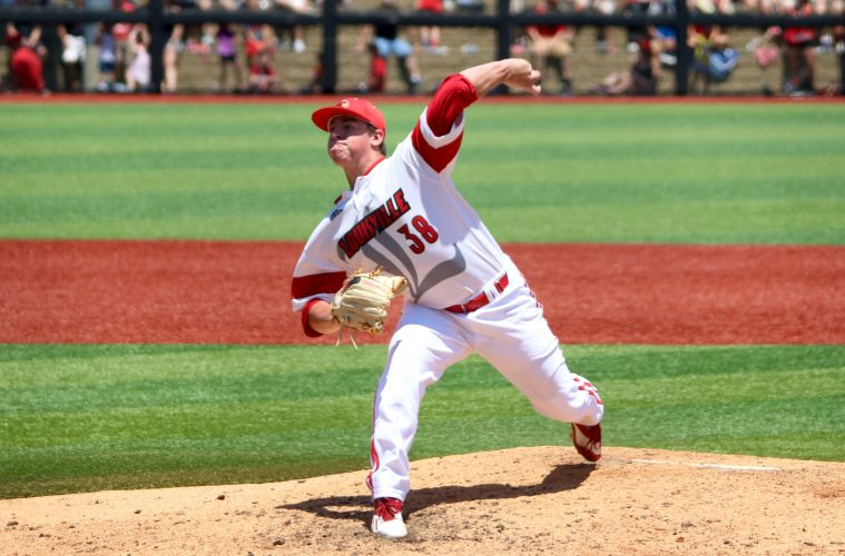 Brendan McKay Louisville vs. UC Santa Barbara NCAA Regional Game 1 Photo by William Caudill 6-11-2016