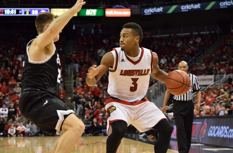 Trey Lewis Louisville vs. Grand Canyon 12-5-2015 Photo by Seth Bloom