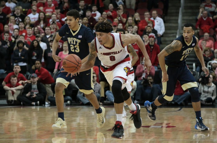 Damion Lee Louisville vs. Pittsburgh 1-14-2016 Photo by William Caudill