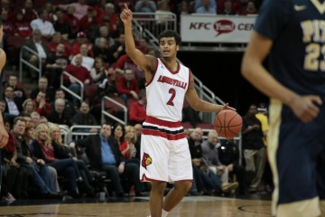 Quentin Snider Louisville vs. Pittsburgh 1-14-2016 Photo by William Caudill