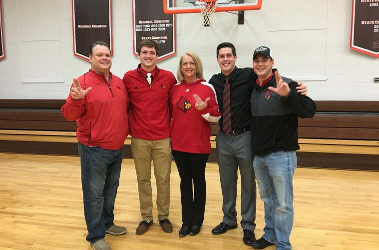 Austin Todd Johnson & His Family on National Signing Day. Photo by Ed Peak 2-3-2016