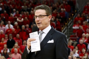 "Rick Pitino ""Senior Night"" Louisville vs. Georgia Tech 3-1-2016 Photo by William Caudill"