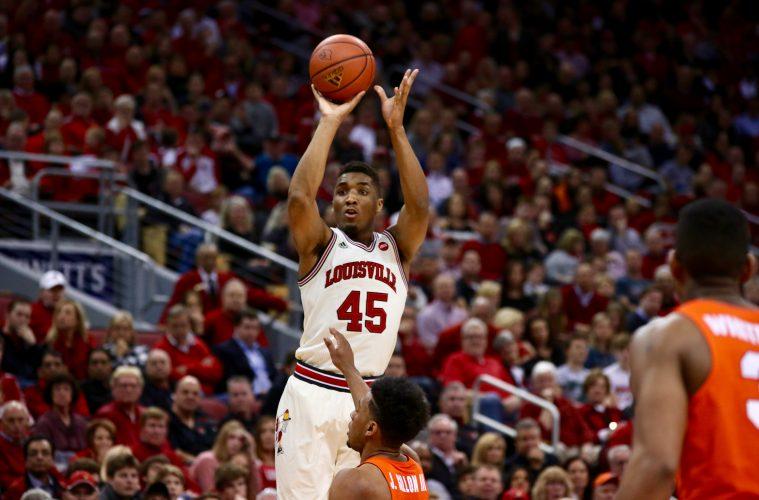 Donovan Mitchell Louisville vs. Syracuse 2-26-2017 Photo by William Caudill TheCrunchZone.com
