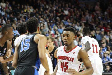 Donovan Mitchell Louisville vs. Duke 3-9-2017 Photo by Mark Blankenbaker TheCrunchZone.com
