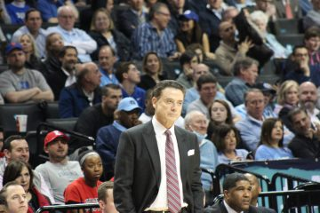 Rick Pitino Louisville vs. Duke 3-9-2017 Photo by Mark Blankenbaker TheCrunchZone.com