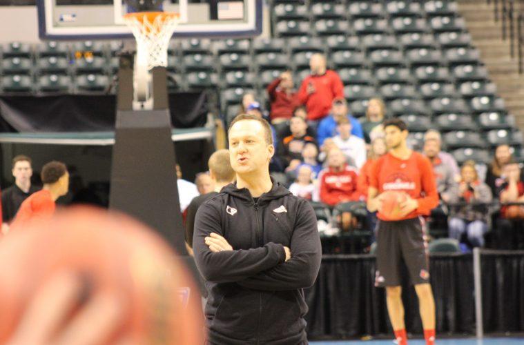 Mike Balado Louisville Basketball Open Practice NCAA 1st Round 3-16-2017 Photo by Mark Blankenbaker