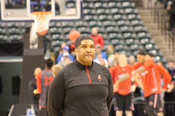 Kenny Johnson Louisville Basketball Open Practice NCAA 1st Round 3-16-2017 Photo by Mark Blankenbaker