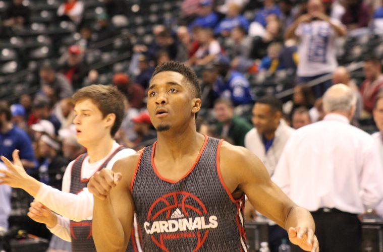 Donovan Mitchell Louisville Basketball Open Practice NCAA 1st Round 3-16-2017 Photo by Mark Blankenbaker