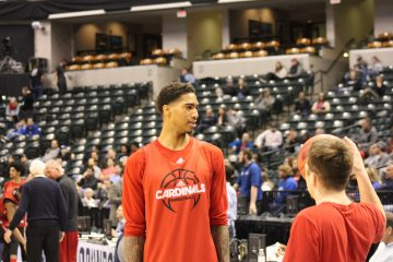 Ray Spalding Louisville Basketball Open Practice NCAA 1st Round 3-16-2017 Photo by Mark Blankenbaker