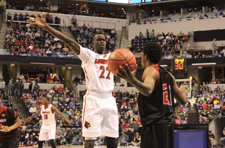Deng Adel Louisville vs. Jacksonville State Banker's Life Field House Indianapolis NCAA 1st Round 3-16-2017 Photo by Mark Blankenbaker