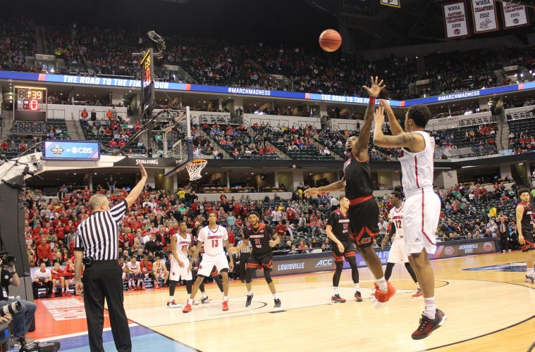 Quentin Snider Louisville vs. Jacksonville State Banker's Life Field House Indianapolis NCAA 1st Round 3-16-2017 Photo by Mark Blankenbaker