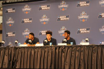 Pre-Game Interviews Louisville vs. Michigan Banker's Life Field House Indianapolis NCAA 1st Round 3-18-2017 Photo by Mark Blankenbaker