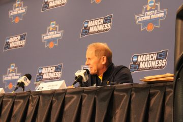 John Beilein Pre-Game Interviews Louisville vs. Michigan Banker's Life Field House Indianapolis NCAA 1st Round 3-18-2017 Photo by Mark Blankenbaker