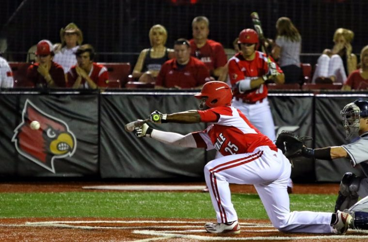 Josh Stowers Louisville Baseball vs. Xavier NCAA Regional 6-4-2017 Photo by William Caudill TheCrunchZone.com